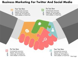 Business Marketing For Twitter And Social Media Flat Powerpoint Design