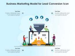 Business Marketing Model For Lead Conversion Icon