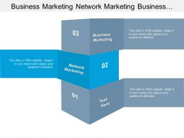 Business Marketing Network Marketing Business Administration Return Investment Cpb