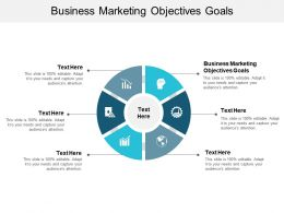 Business Marketing Objectives Goals Ppt Powerpoint Presentation Model Show Cpb