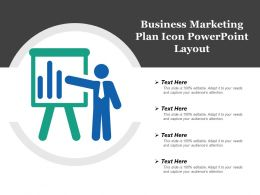 Business Marketing Plan Icon Powerpoint Layout