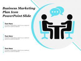 Business Marketing Plan Icon Powerpoint Slide