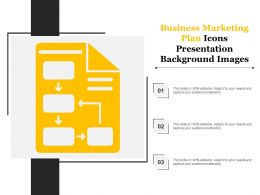 Business Marketing Plan Icons Presentation Background Images