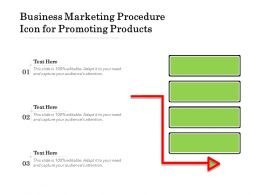 Business Marketing Procedure Icon For Promoting Products