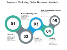 Business Marketing Sales Business Analysis Introduction Venture Industry Cpb