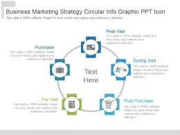 Business Marketing Strategy Circular Info Graphic Ppt Icon