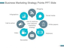 Business Marketing Strategy Points Ppt Slide