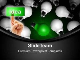 Business Marketing Strategy Powerpoint Templates Unique Idea Bulb Ppt Process