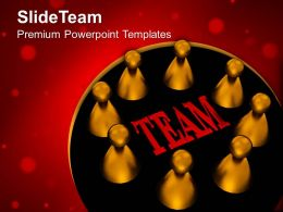 Business Marketing Strategy Templates Our Team Teamwork Leadership Ppt Powerpoint