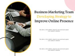 Business Marketing Team Developing Strategy To Improve Online Presence
