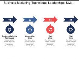 Business Marketing Techniques Leaderships Style Sales Forecasting Brand Building