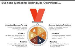Business Marketing Techniques Operational Business Planning Sales Strategies
