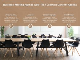 Business Meeting Agenda Date Time Location Consent Agenda
