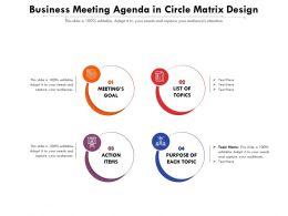 Business Meeting Agenda In Circle Matrix Design
