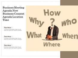 Business Meeting Agenda New Business Consent Agenda Location Time