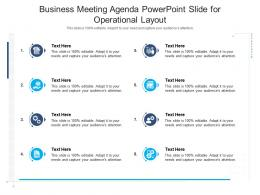 Business Meeting Agenda Powerpoint Slide For Operational Layout Infographic Template
