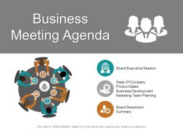 Business Meeting Agenda Ppt Inspiration