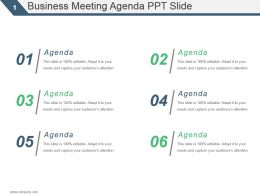Business Meeting Agenda Ppt Slide