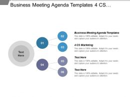 Business Meeting Agenda Templates 4 Cs Marketing Project Stakeholder Cpb