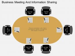business_meeting_and_information_sharing_flat_powerpoint_design_Slide01