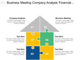 Business Meeting Company Analysis Financial Projection Leadership Programs