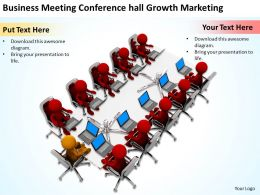 Business Meeting Conference hall Growth Marketing Ppt Graphic Icon
