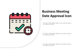 Business Meeting Date Approval Icon