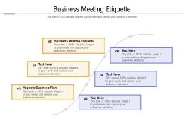 Business Meeting Etiquette Ppt Powerpoint Presentation Ideas Inspiration Cpb
