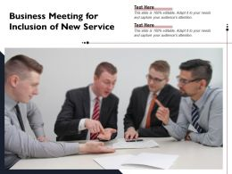 Business Meeting For Inclusion Of New Service