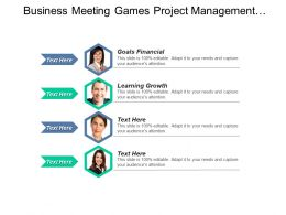 Business Meeting Games Project Management Tools Executive Assistants Cpb
