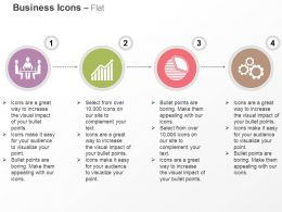 Business Meeting Growth Bar Graph Pie Chart Gears Ppt Icons Graphics