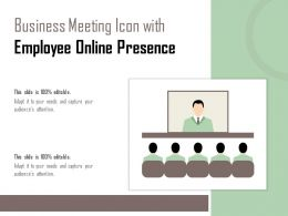Business Meeting Icon With Employee Online Presence