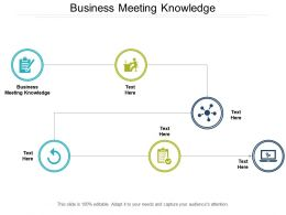 Business Meeting Knowledge Ppt Powerpoint Presentation Professional Graphics Download Cpb