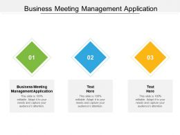 Business Meeting Management Application Ppt Powerpoint Presentation Outline Design Ideas Cpb