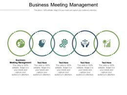 Business Meeting Management Ppt Powerpoint Presentation Inspiration Format Ideas Cpb