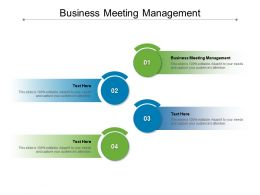 Business Meeting Management Ppt Powerpoint Presentation Portfolio Example File Cpb