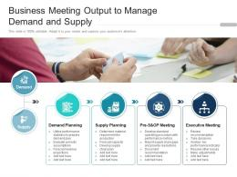 Business Meeting Output To Manage Demand And Supply