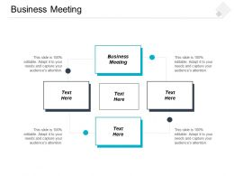 Business Meeting Ppt Powerpoint Presentation File Summary Cpb
