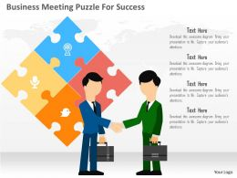 Business Meeting Puzzle For Success Flat Powerpoint Design