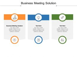 Business Meeting Solution Ppt Powerpoint Presentation Icon Gallery Cpb