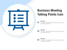 Business Meeting Talking Points Icon