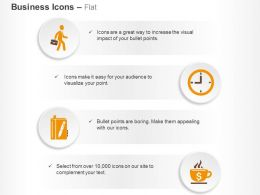 Business Meeting Time Management Financial Deal Diary Ppt Icons Graphics