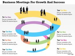 Business Meetings For Growth And Success Flat Powerpoint Design