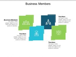 Business Members Ppt Powerpoint Presentation Pictures Templates Cpb