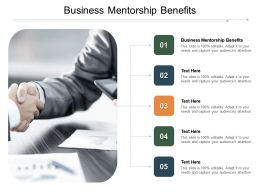 Business Mentorship Benefits Ppt Powerpoint Presentation Infographics Pictures Cpb