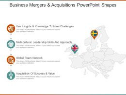 Business Mergers And Acquisitions Powerpoint Shapes