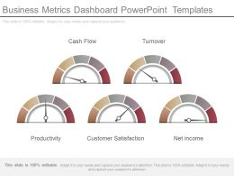 Business Metrics Dashboard Powerpoint Templates
