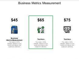 Business Metrics Measurement Ppt Powerpoint Presentation File Portfolio Cpb