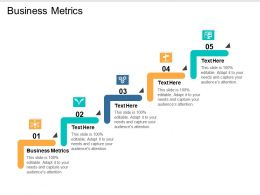 Business Metrics Ppt Powerpoint Presentation Infographics Structure Cpb