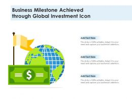Business Milestone Achieved Through Global Investment Icon